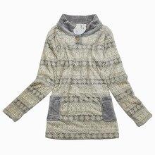 Pajamas Women flannel Long sleeves Sleep Tops pullover sleepwear lounge thickness nightshirt