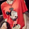 Women's Blouses Short sleeve Blouse O-Neck Tops Camisas Femininas Casual Printing Mickey Shirt Plus Size Women Clothing Blusas