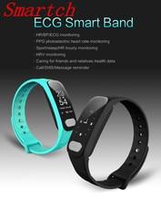 Smartch R11 ЭКГ Smart Band 0.96 дюймов Экран сердечного ритма Приборы для измерения артериального давления сна Мониторы смарт-браслет с вызова SMS напоминание therm