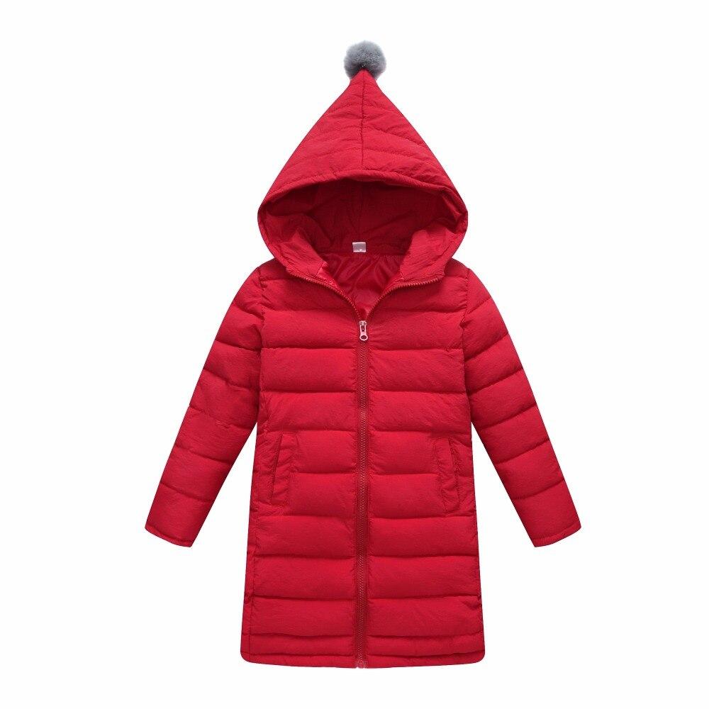 New 2017 Winter Girls Coat Warm Girl Children Outerwear Coat Cotton Paddad Kids Clothing fashion Jackets Christmas Costoum 12 цена и фото