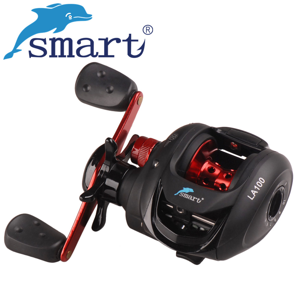 SMART Baitcasting Fishing Reel 5+1BB/6.2:1 Right/Left Hand 218g Round Coil Molinete Peche Carretilha Carretes De Pesca Wheel noeby baitcasting reel 11bb 6 3 1 bait casting lure fishing wheel right left hand max drag 5kg molinete carretilha de para pesca
