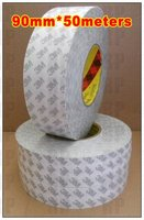 1 Roll 90mm (9cm) width, 50 meters length, Double Sided Coated Sticky, 3M Electronic Solution Tape, Daily Using
