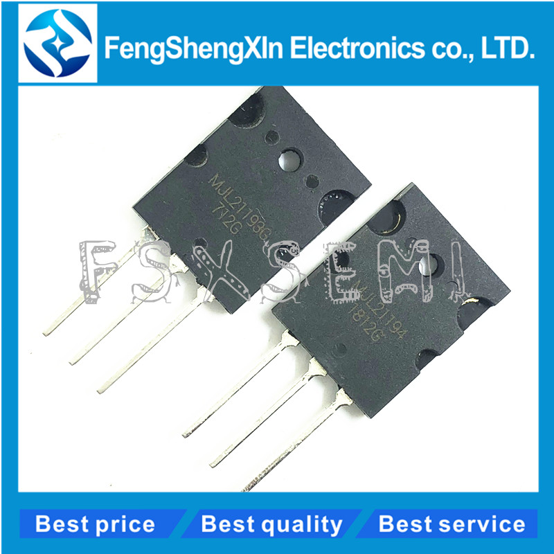 10pcs/lot  MJL21193G MJL21194G  5pcs MJL21193+5pcs MJL21194 TO-3P Power Transistors