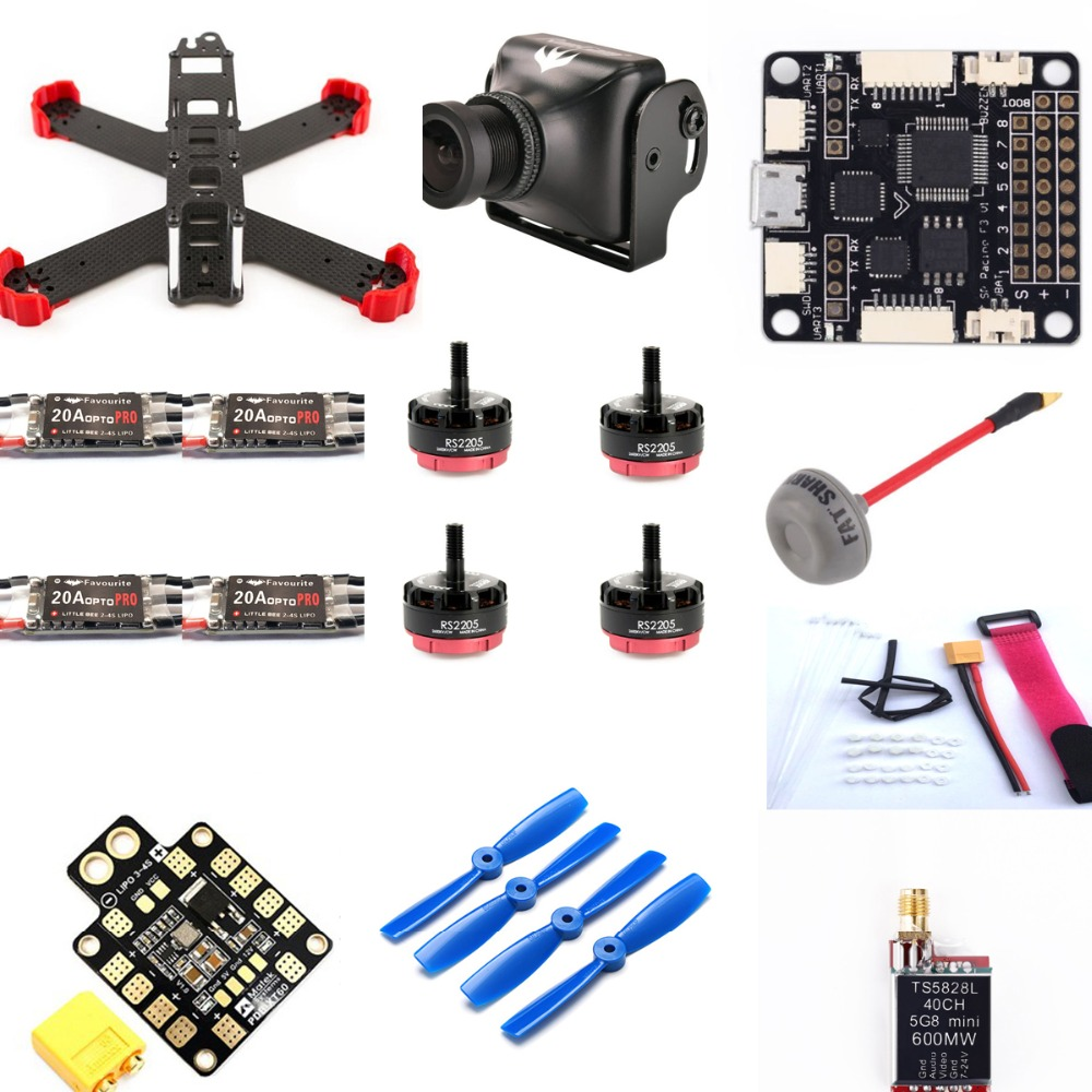 FPV Racing Mini Drone QAV180 FPV Frame Kit With Runcam Swift Camera LittleBee 20A OPTO PRO