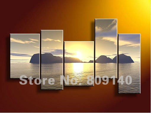 Oil Painting Decoration Sea Scenery Seascape Canvas Modern High Quality Hand Painted Home Office Hotel Wall