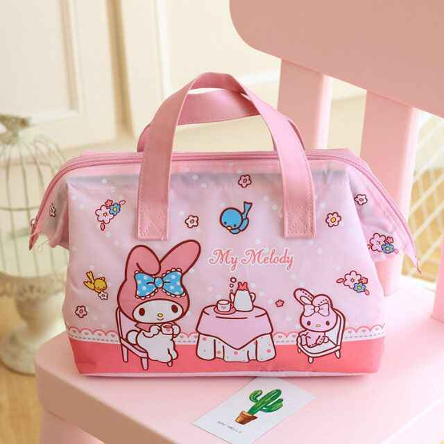 Kawaii My Melody Little Twin Stars Portable Lunch Bag Thermal Insulated  Cold keep Food Safe Warm 10dbbc24f07d2