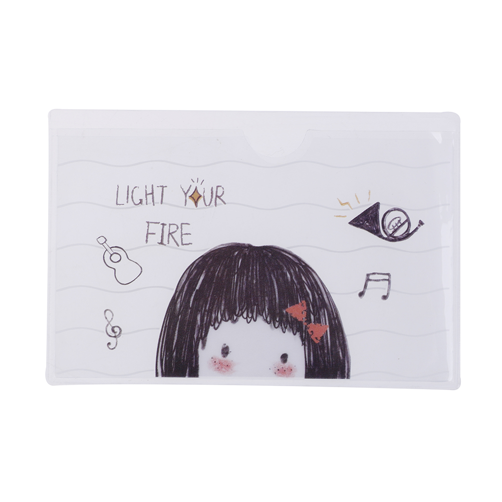3Pcs/set Cute Cartoon PVC Card Holder Protector Bus Card Case Student Bank Credit Card Protective Cover For Girls