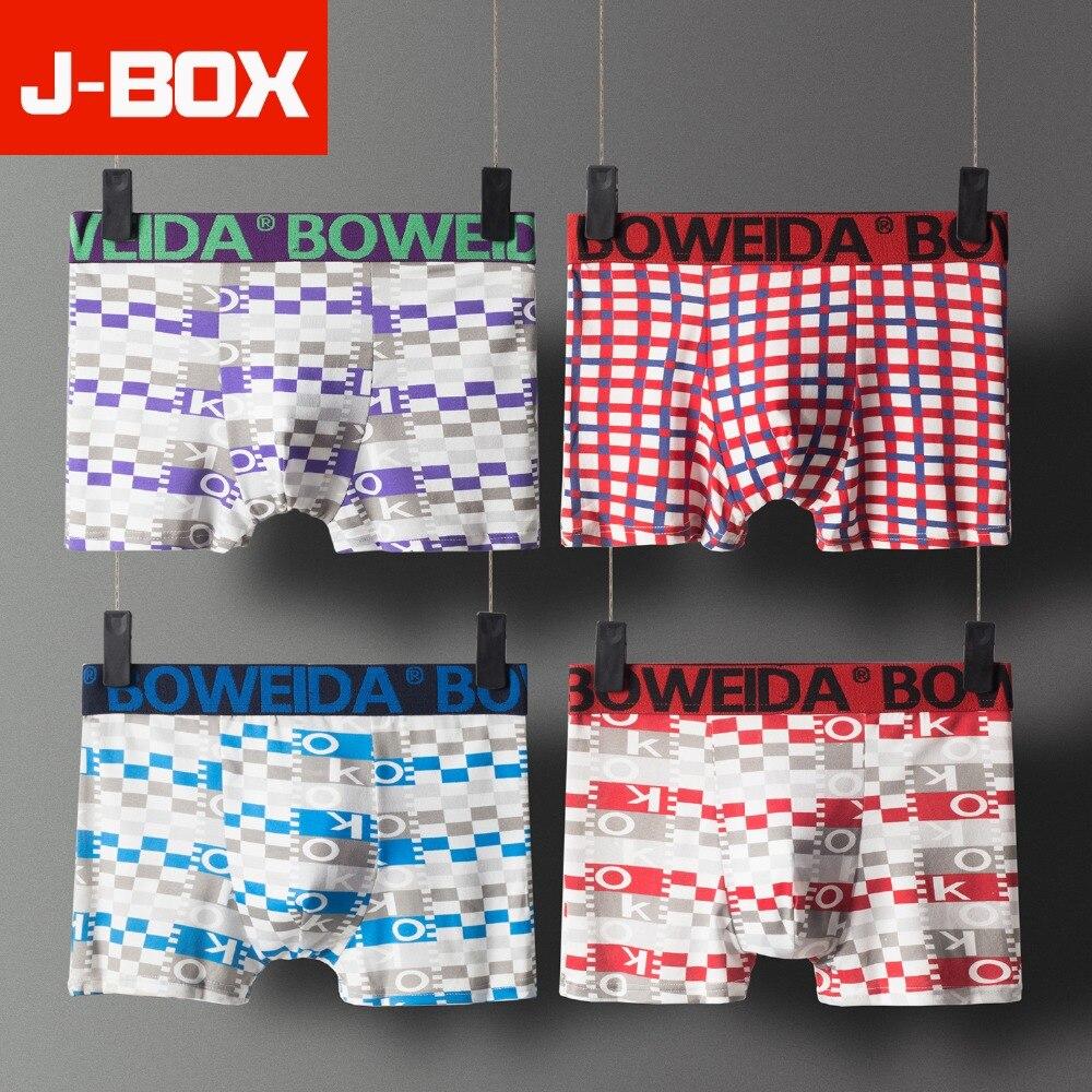 Boxer Herren-unterwäsche KüHn J-box 4pcs Los Beliebte Stamm Mens Boxer Sexy Männer Unterwäsche Männlichen Unterhose Höschen Shorts U Konvexen Beutel Plus Größe Xxxl