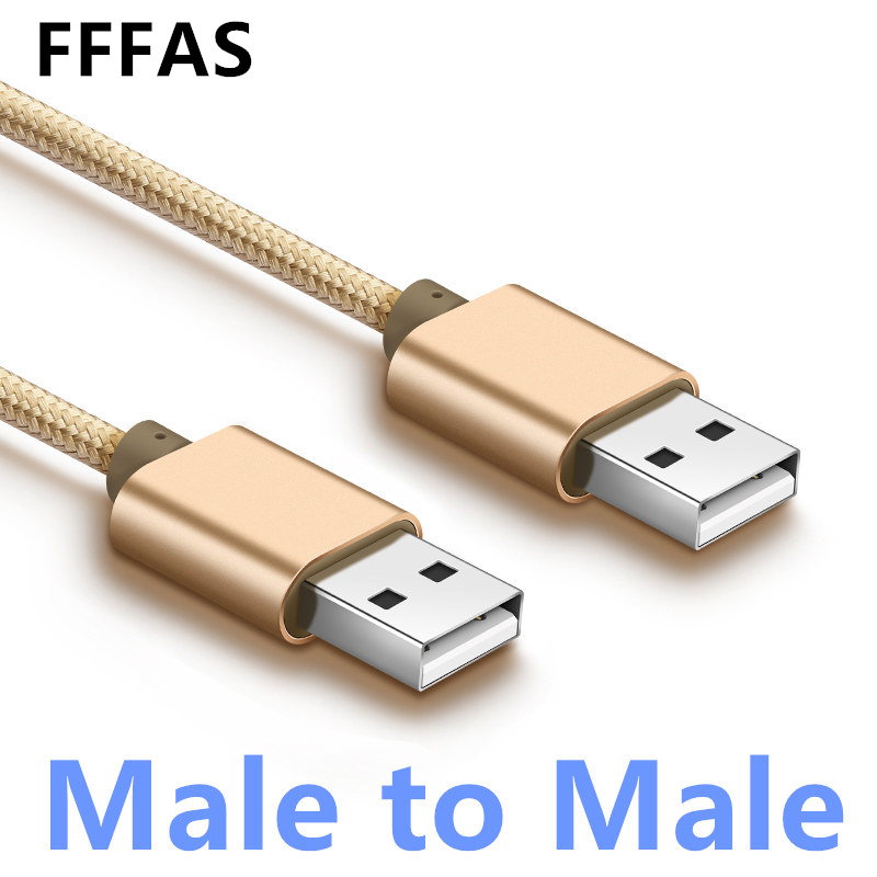 FFFAS 1m Male to Male USB Cable Charging Date Syns USB 2.0 Extend Cable Computer Connector Extension M/M Hard Disk Charge Camera lidu usb male to micro usb male extension charging cable for samsung black 100 cm