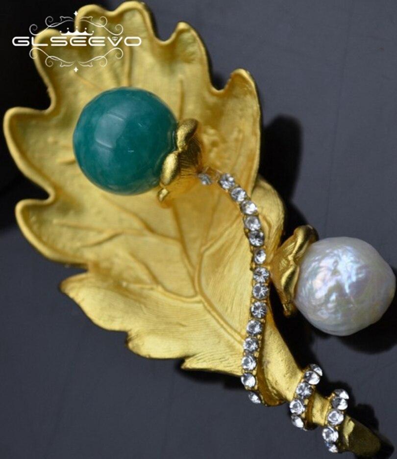 XlentAg naturel eau douce blanc perle broches péridot broches pour femmes accessoires fête double usage luxe bijoux fins GO0284