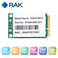 Standard 5G PCle Module QCA9886 Chip High Power 23dB Module Wave2/2x2 MU MIMO Support 802.11 a/an/ac for AGV Robot Router Q127