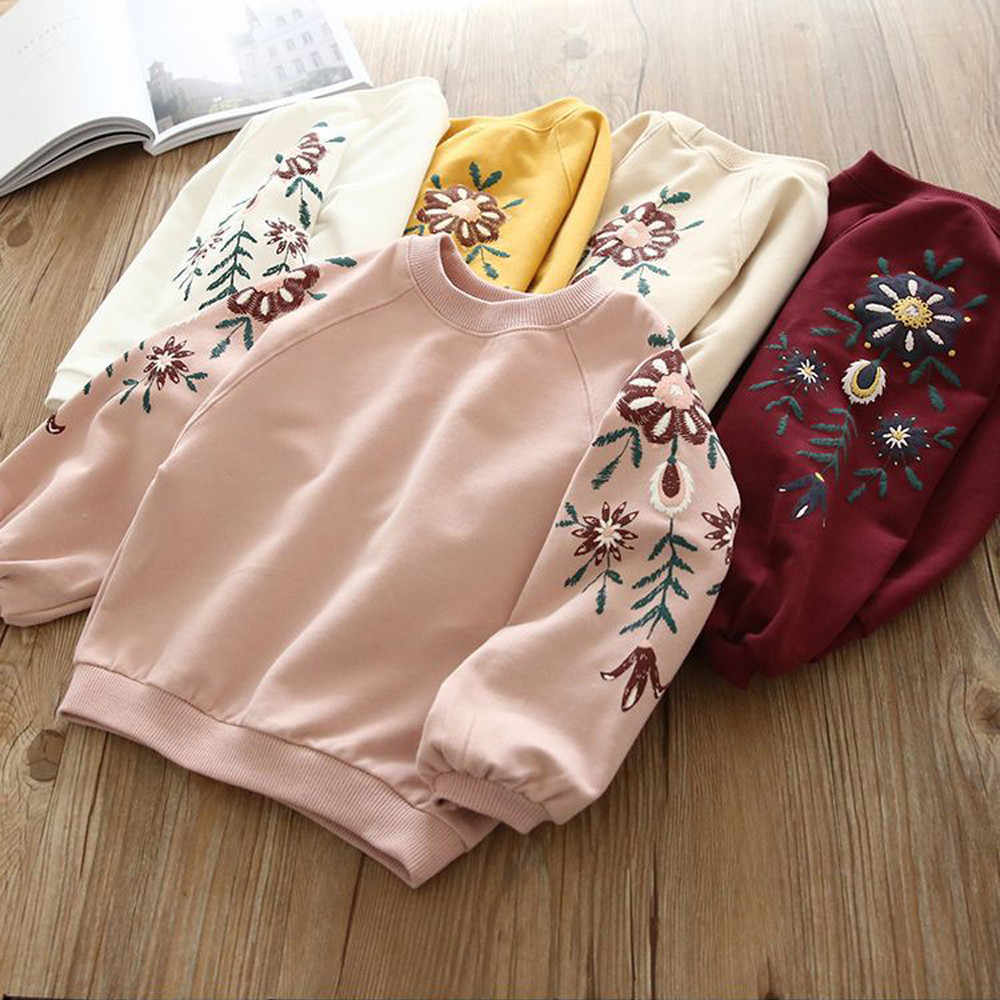 Toddler Kids Baby Girl Floral Pullover Sweatshirt Tops Hoodie Clothes Outfits Cute Vetement Enfant Fille Kids Tops Baby Hoodie
