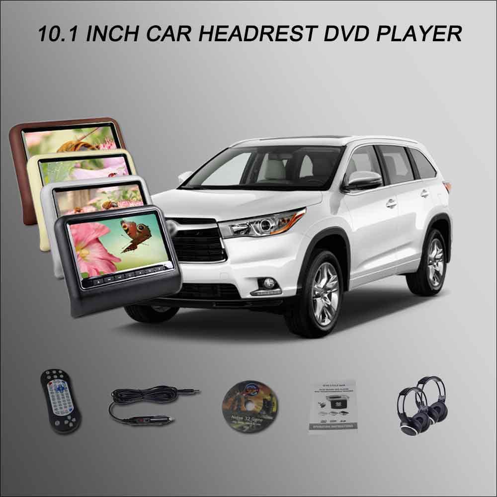 Bigbigroad подголовник автомобиля Мониторы/2*10.1 Экран Поддержка USB SD dvd-плеер игры Дистанционное управление для Toyota Highlander