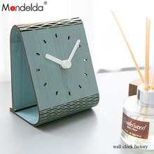 Mandelda Customized Modern Brief Stereo Table Clock UK Digital Creative Home Decor Silent Wall Clocks Living Room Bracket