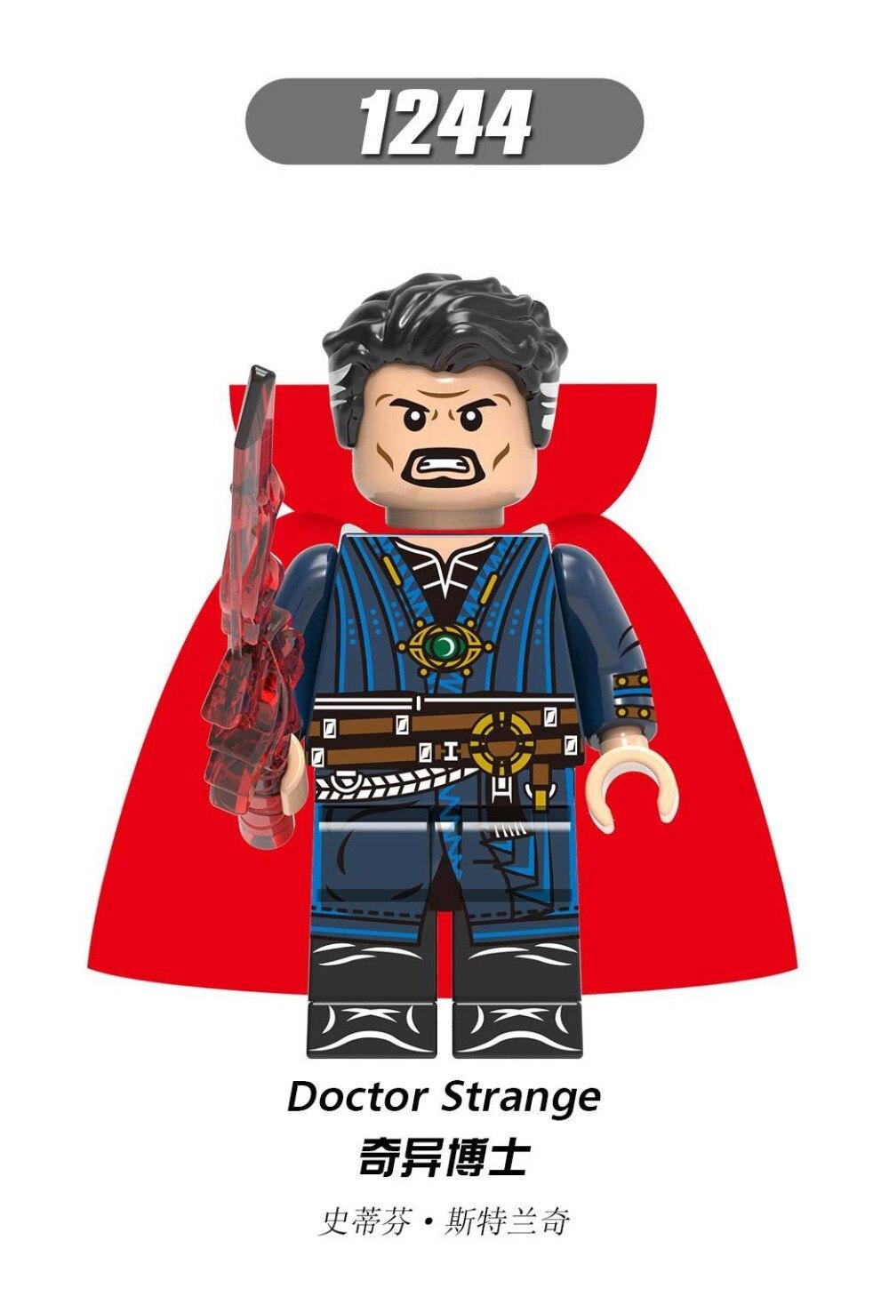 Single Sale Building Blocks Super Heroes  DOCTOR STRANGE CAPTAIN AMERICA CAPTAIN MARVEL THor Figures Model Toys For Children
