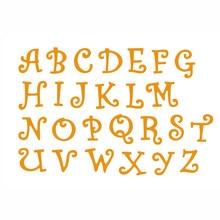 A-Z металлические ножницы с алфавитом, вырубка бумаги, пригласительные карточки, кружевная окантовка для скрапбукинга/создания открыток/детского забавного украшения