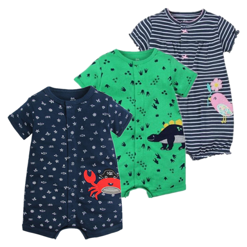 2018 NEW stlye Summer baby boys rompers kids Short sleeve clothing Baby girls cotton Jumpsuit Newborn rompers 0-24M baby clothes 2018 flower baby girls clothing newborn baby girl floral rompers long sleeve jumpsuit playsuit summer baby girls clothes