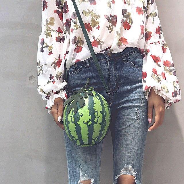 285a34698d59 Fashion Women Messenger Shoulder Bag Watermelon Shape PU Leather Mini Girls Crossbody  Bags Handbag LT88