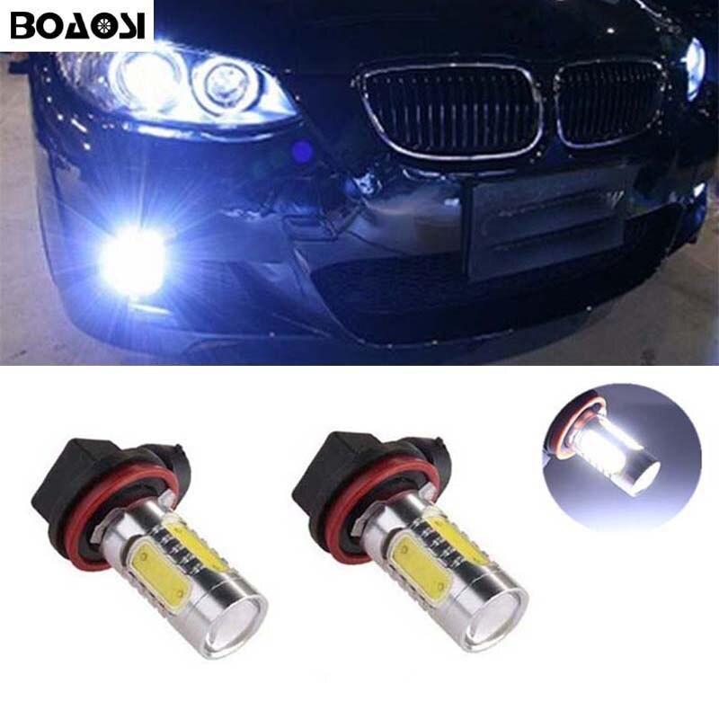 BOAOSI 2x H8 H11 Samsung COB LED Fog Light Driving Bulb For BMW E39 325 328 M mini SPORT