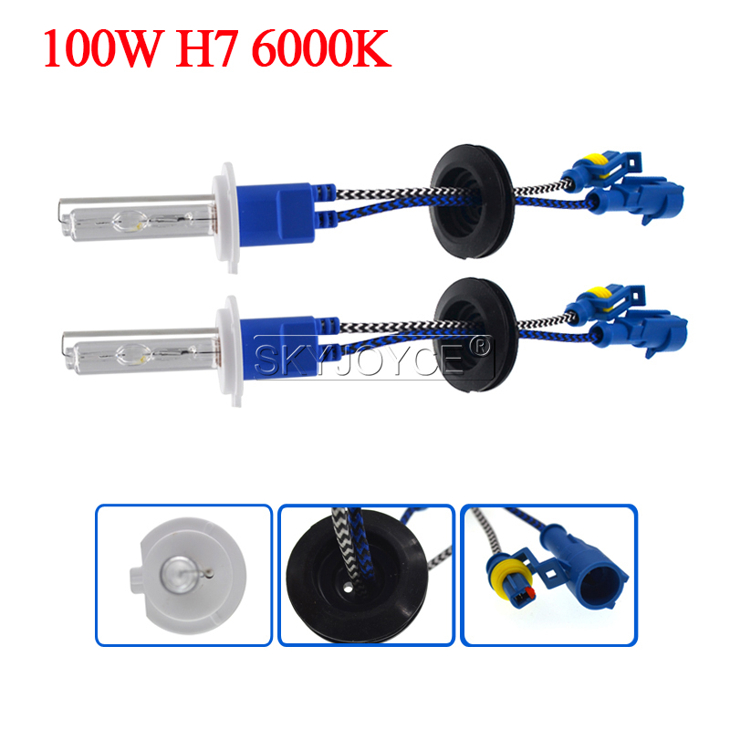 Car Headlight 100W HID Xenon Kit H7 H11 H1 H3 HB3 HB4 D2H Xenon Bulb High Power AC 12V 100W HID Ballast Kit 4300K 6000K 8000K (12)