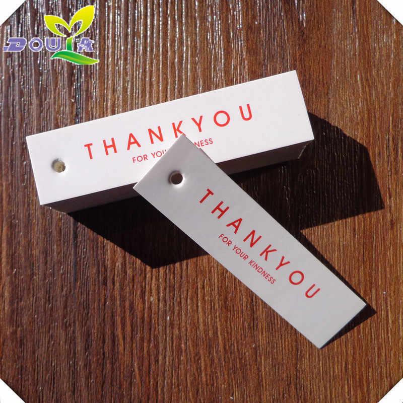 1.8x7.0cm 100pcs 케이크 손에 대 한 작은 종이 교수형 태그를 주셔서 감사합니다 선물 손수 레이블에 대 한 요리 상자에 대 한 장식 태그