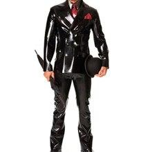 Новинка ручной работы латексная натуральная резинка костюм сексуальная униформа Wetlook черный латекс боди Унисекс латекс настроить XXS-XXL