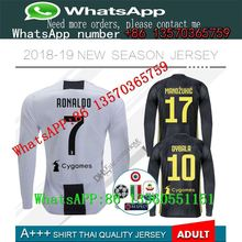 fbea1ee08f0 18 19 thailand quality RONALDO Juventus Long sleeve soccer jerseys 2018 19  juve DYBALA Champion league football shirt