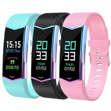 2019 Touch Screen Heart Rate Sleep Analysis Bluetooth Sports Smart Bracelet Watch(China)