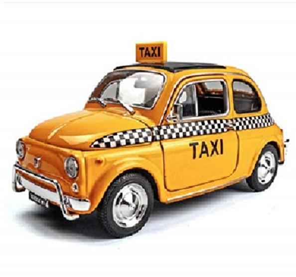 Welly 1:24 Fiat Nuova 500 Taxi Diecast Model Sports Racing Car NEW IN BOXWelly 1:24 Fiat Nuova 500 Taxi Diecast Model Sports Racing Car NEW IN BOX