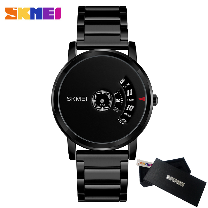 Skmei Quartz Man Watch 2017 Fashion Mens Watches Top Brand Luxury Stainless Steel Male Wrist Watch Male Clock Relogio Masculino