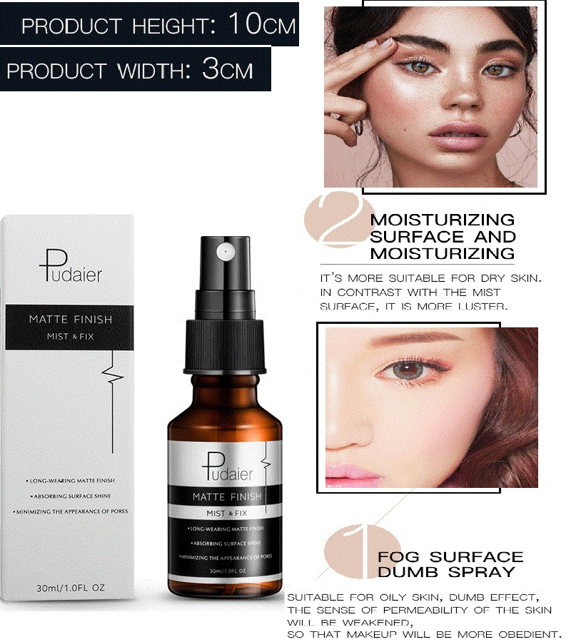 Pudaier 30ML Makeup Setting Spray Oil-control Long Lasting Matte Finish Bottle Make Up Fix Foundation To Oily /dry Skin KDCW1 image