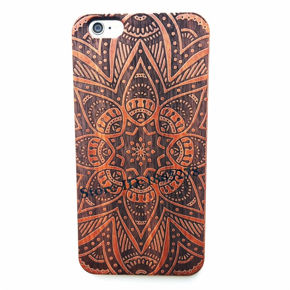 29 Style Indian Mehndi Henna Mandala Flower Wood <font><b>Phone</b></font> <font><b>Case</b></font> For <font><b>Iphone</b></font> 5 5S SE 6 6S 6 Plus 7 <font><b>7Plus</b></font> Natural Wooden Iphone6 Cover