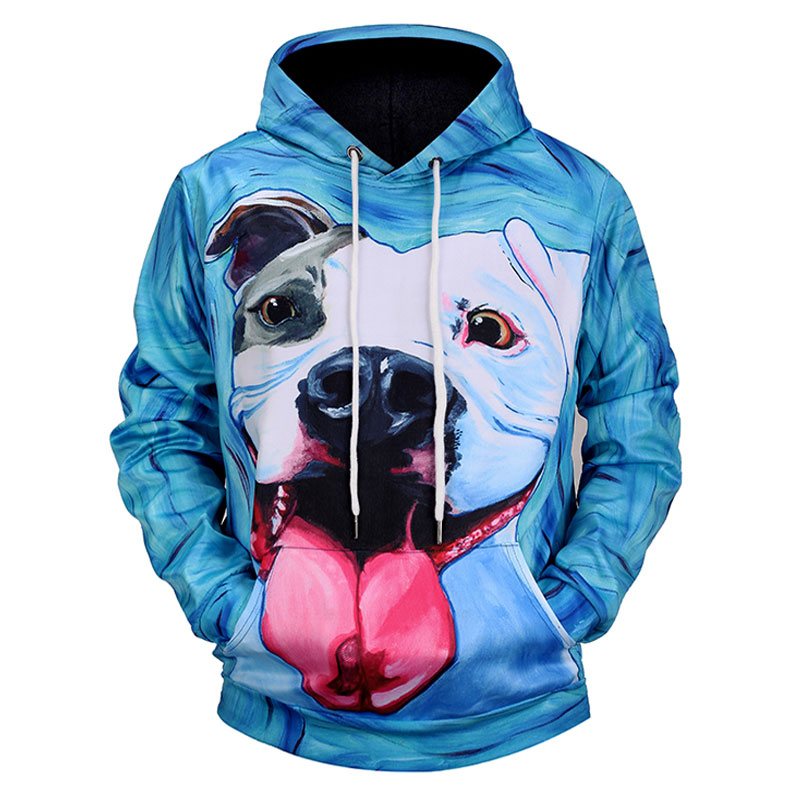 Men's Clothing Fine Acacia Person New Fashion Men/women 3d Sweatshirts With Hat Print Spit Tongue Dog Hooded Hoodies Thin Autumn Winter Hoody Tops Be Friendly In Use