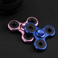 Finger Spinner Fidget Toy Tri Spinner Made By Stainless Steel Brass Metal Aluminum Long Spin Time