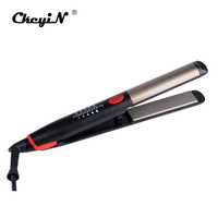 Top Ceramic Hair Straightening Curling Iron Flat Iron LED Digital Hair Styling Tool Professional Anions Hair