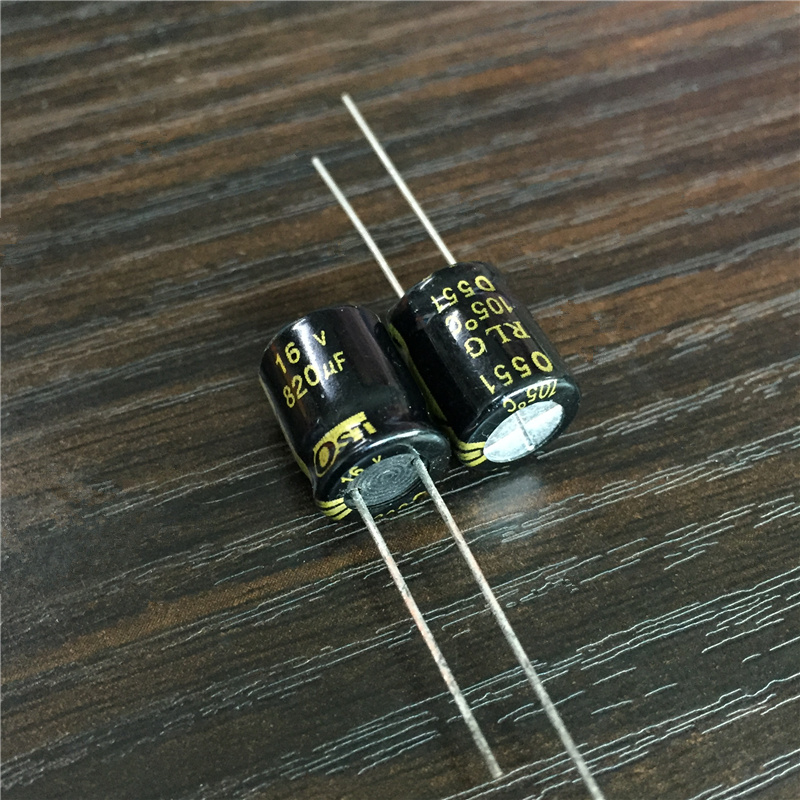 10pcs 820uF 16V OST RLG Series 10x12.5mm Long Life 16V820uF Aluminum Electrolytic Capacitor