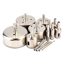 Saw Tile Diamond-Coated Glass-Cutter Tiling for Marble Wood 14pcs/Set 3-To Drill-Bits