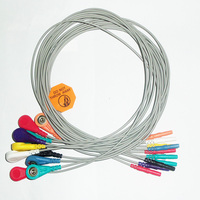 Din style holter 10 lead leadwire ECG snap electrode