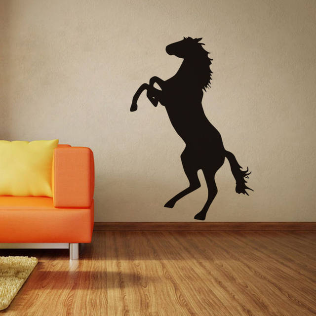 Online Shop Standing Horse Wall Stickers Quotes Home Decor Living Room  Bedroom Black Custom Color Vinyl Wall Decals Stickers Muraux SA056B |  Aliexpress ...