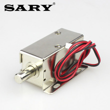 Электромагнитный клапан 12 В постоянного тока, миниатюрный Электрический замок, замок для шкафа, замок для шкафа для хранения, Электрический Болтовой замок, маленький электронный ящик l