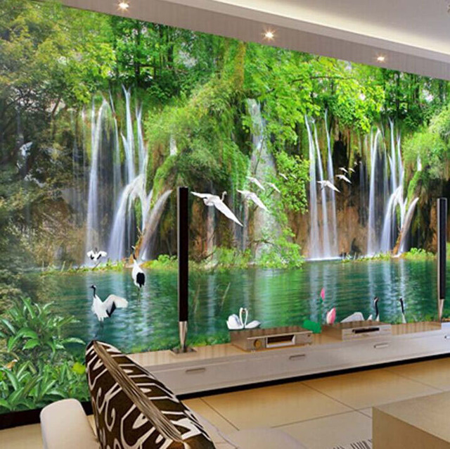 aliexpress com buy wholesale waterfall crane scenery