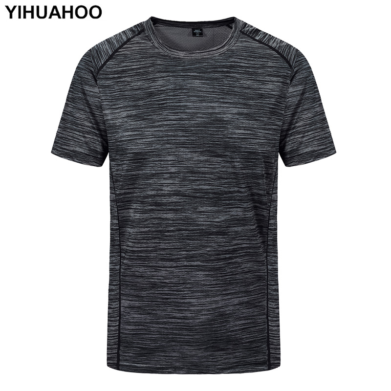 YIHUAHOO Plus Size <font><b>6XL</b></font> <font><b>7XL</b></font> <font><b>8XL</b></font> T shirt Men Fashion Quick Dry Short Sleeve Casual Summer Brand Breathable Tee Shirt Tops XYN-8915 image