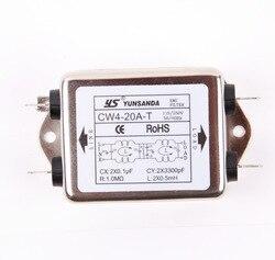EMI Power Filter CW4-20A/6A/10A/3A/30A-T Insert Type 220V