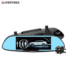 SLIVERYSEA 3G Car Camera DVR GPS Bluetooth Dual Lens Rearview Mirror Video Recorder Full HD 1080P Automobile DVR Mirror Dash cam 7 car camera dvr gps bluetooth dual lens rearview mirror video recorder full hd 1080p automobile dvr mirror dash cam