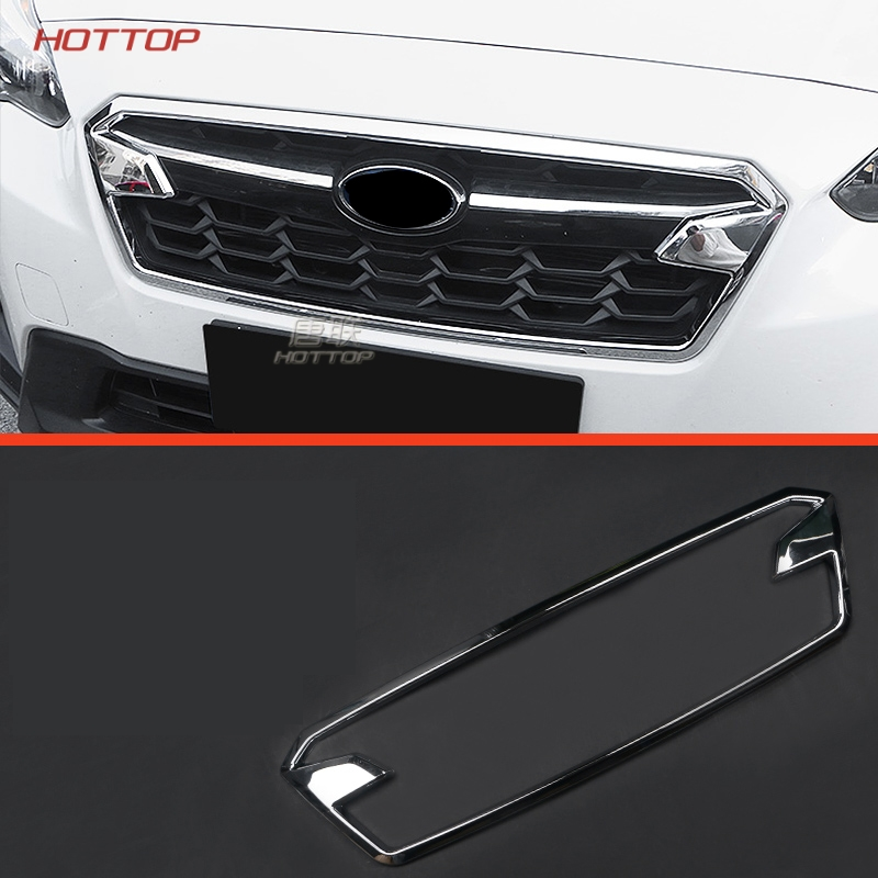 Front Middle Grille Grill Cover Trim Frame Decoration For Subaru Crosstrek XV Impreza Hatchback 2018 ABS Exterior car styling