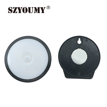 SZYOUMY 20 Pcs Motion Sensor Night Light Potable LED Closet Lights Wall Lamp USB Rechargeable Wireless Cabinet Leds Lighting