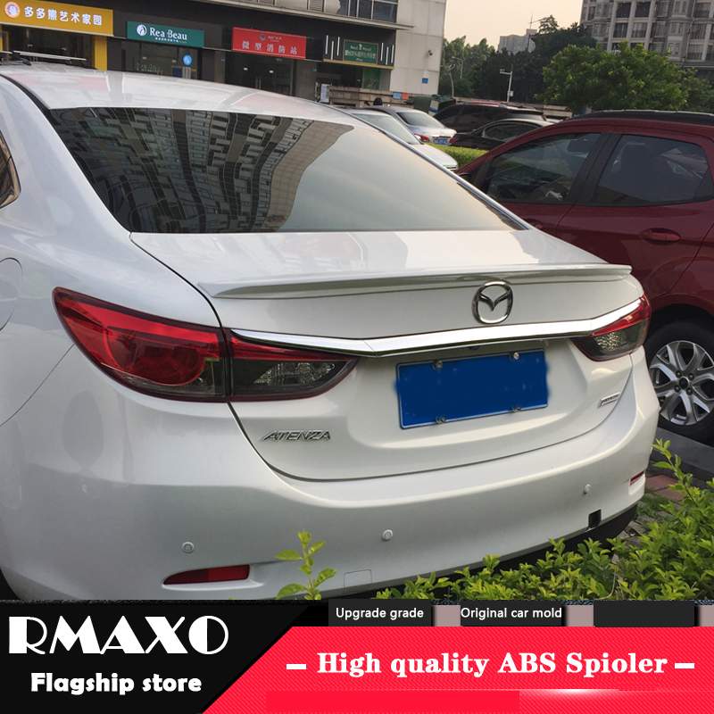 For <font><b>MAZDA</b></font> Atenza <font><b>Spoiler</b></font> 2014-2016 <font><b>MAZDA</b></font> Atenza High Quality ABS Material Car Rear Wing Primer Color Rear <font><b>Spoiler</b></font> image