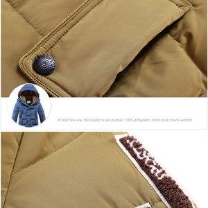 Image 5 -  30 תואר Down מרופדת ברווז מעילי החורף של ילדי בגדי ילדים 2017 בני עיבוי מעיל חם גדול הלבשה עליונה