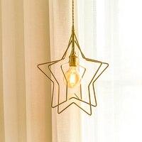 EL Vintage Stars Brass Pendant Lamp Modern Pendant Light Bedroom LED Pendant Lamp Indoor Lighting