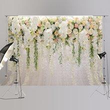 Свадебный фон свадебный душ большой фон белый цветочный Wister дизайн украшения фотобудка XT-6749